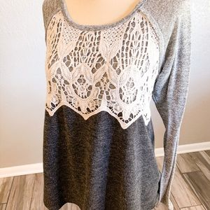 Maurices Lace Detailed Color Block Top